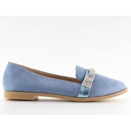 Women's blue loafers H8-110 Blue
