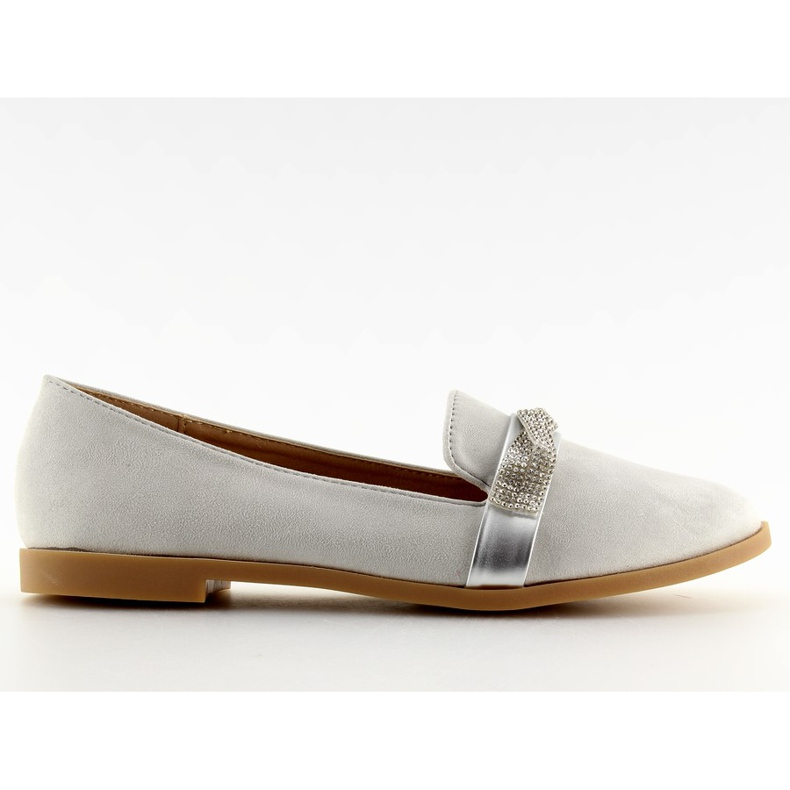 Women's loafers gray H8-110 Gray grey