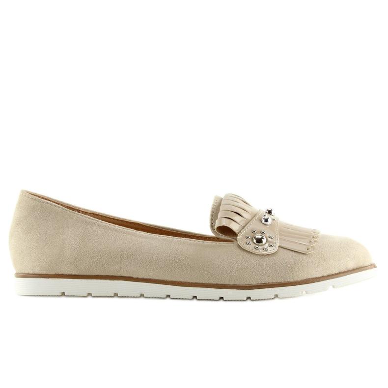 Women's loafers beige DM30P Beige