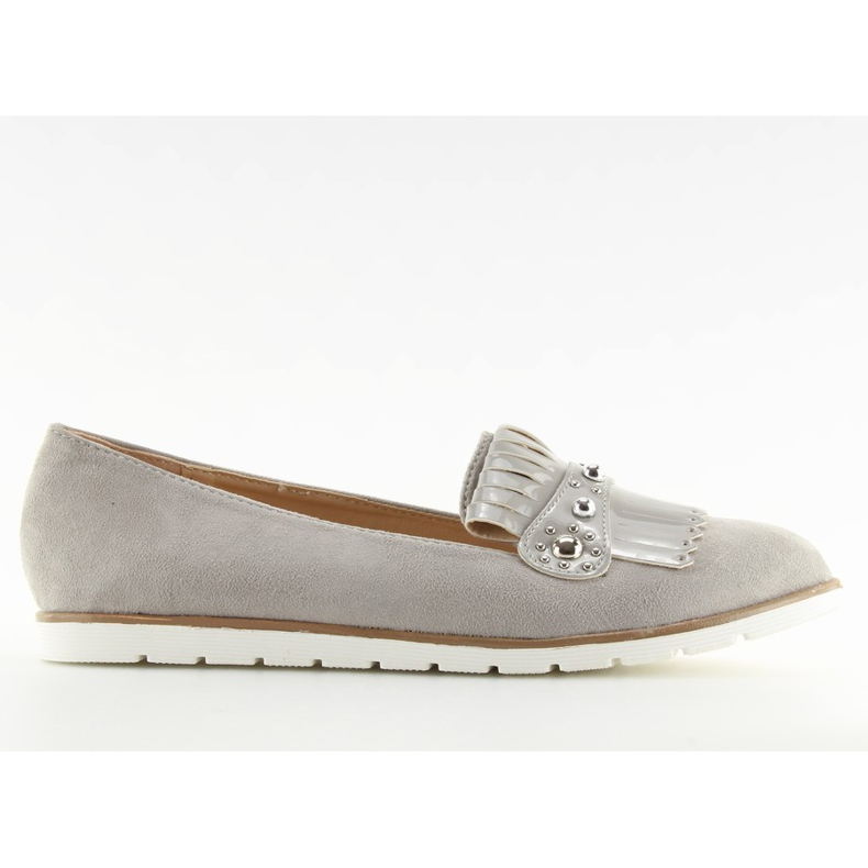 Moccasins for women gray DM30P Gray grey