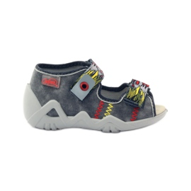 Befado children's shoes slippers sandals 350p073 red grey yellow