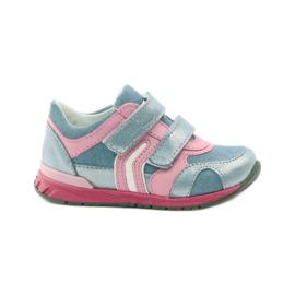 Ren But Velcro booties 1445 pink blue