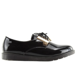 Loafers Laced Black Wh-1H184 Black