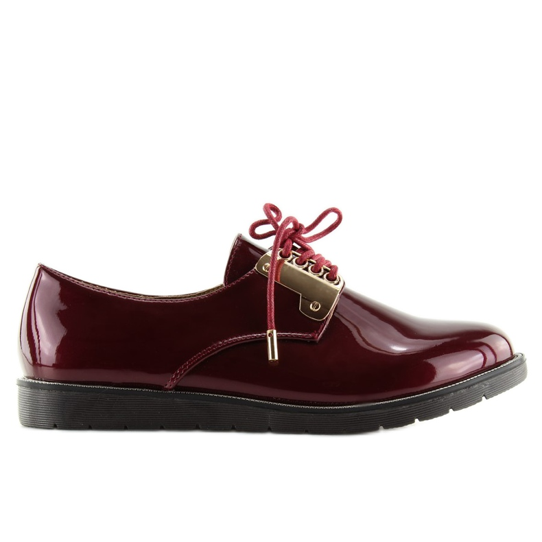 Moccasins Lace-up Maroon Wh-1H184 Red