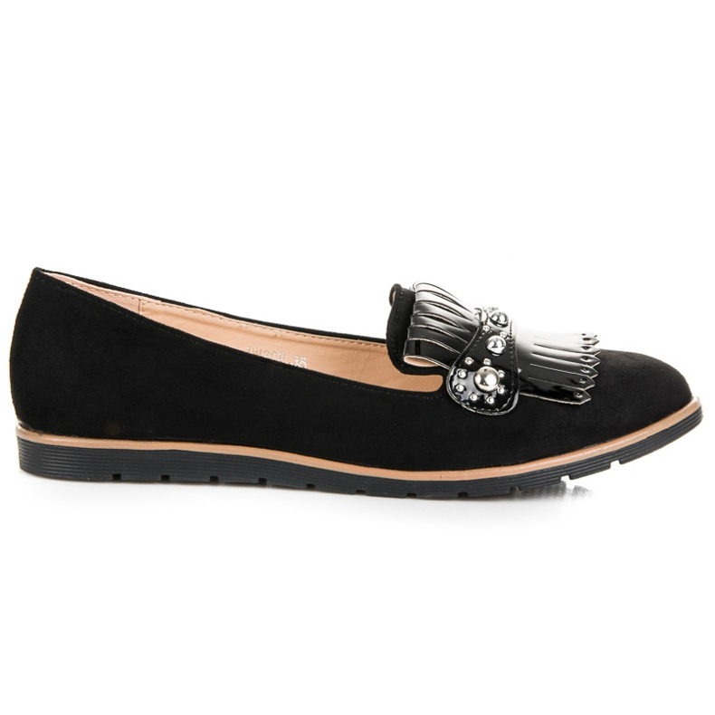Seastar Suede Loafers With Fringes black