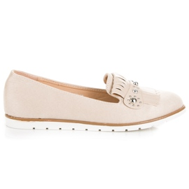 Seastar Suede Loafers With Fringes brown