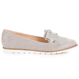 Seastar Suede Loafers With Fringes grey