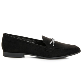 Suede loafers vices black