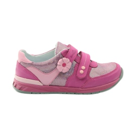 Girls' shoes with flower Ren But 3265 pink grey