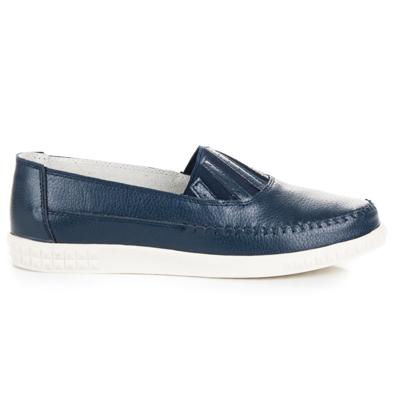 Slip-on Leather Loafers from VINCEZA blue