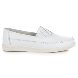 Slip-on Leather Loafers from VINCEZA white