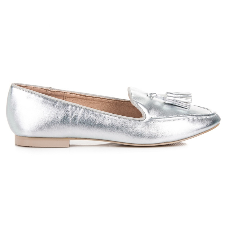 Silver moccasins vices grey