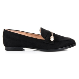 Seastar Loafers with pearls black