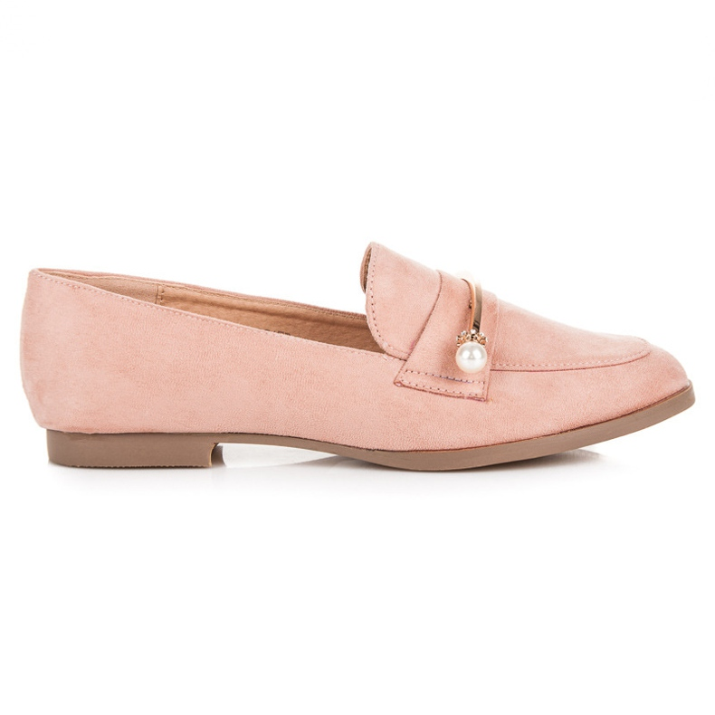 Seastar Loafers With Pearls pink
