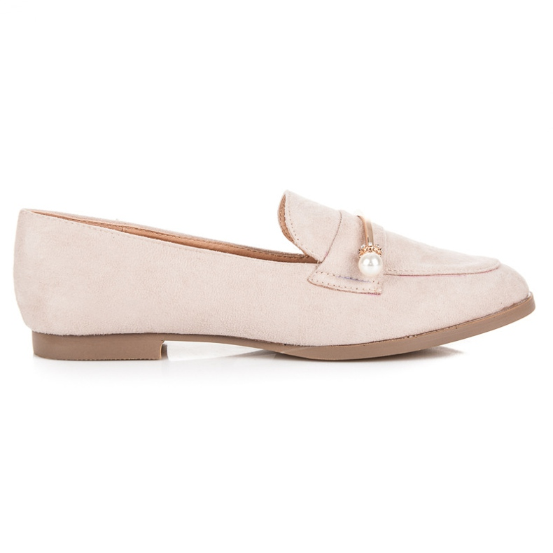 Seastar Loafers With Pearls beige
