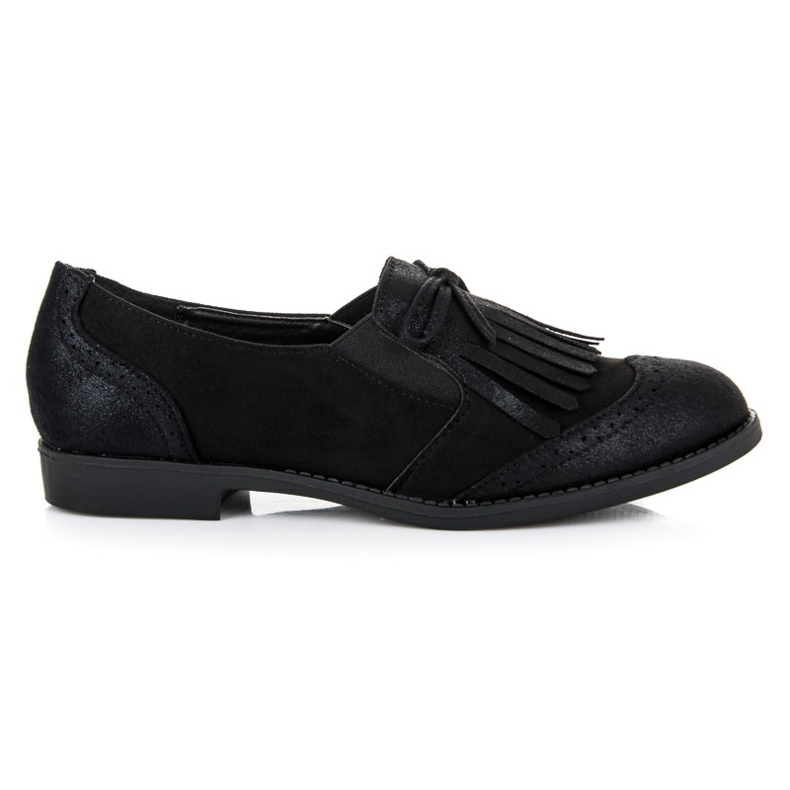 Bestelle Black loafers with a bow