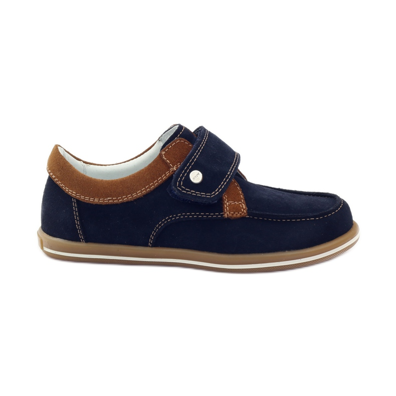 Bartek Casual boy shoes 35599 navy blue brown