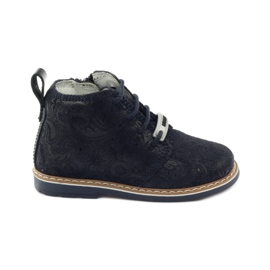Bartek Zippered ankle boots 81852 navy blue