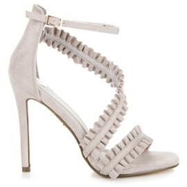 Seastar grey Sandals High Heels With A Frill