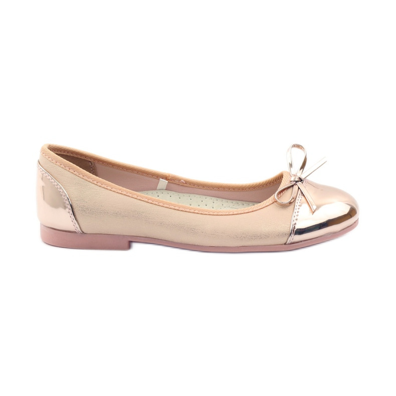 American Club Ballerinas shoes with an American bow pink yellow white