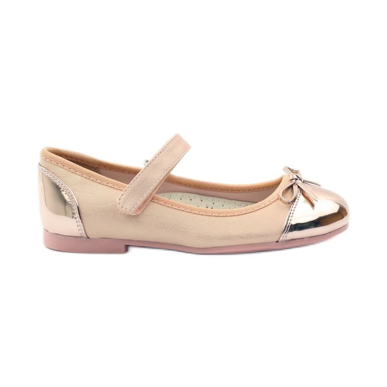 American Club Velcro ballerinas shoes American 14297 pink yellow
