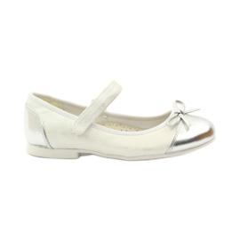American Club Velcro ballerinas shoes American 14297 grey white