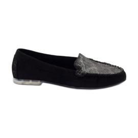 Shoes suede moccasins Sergio Leone 721 black grey