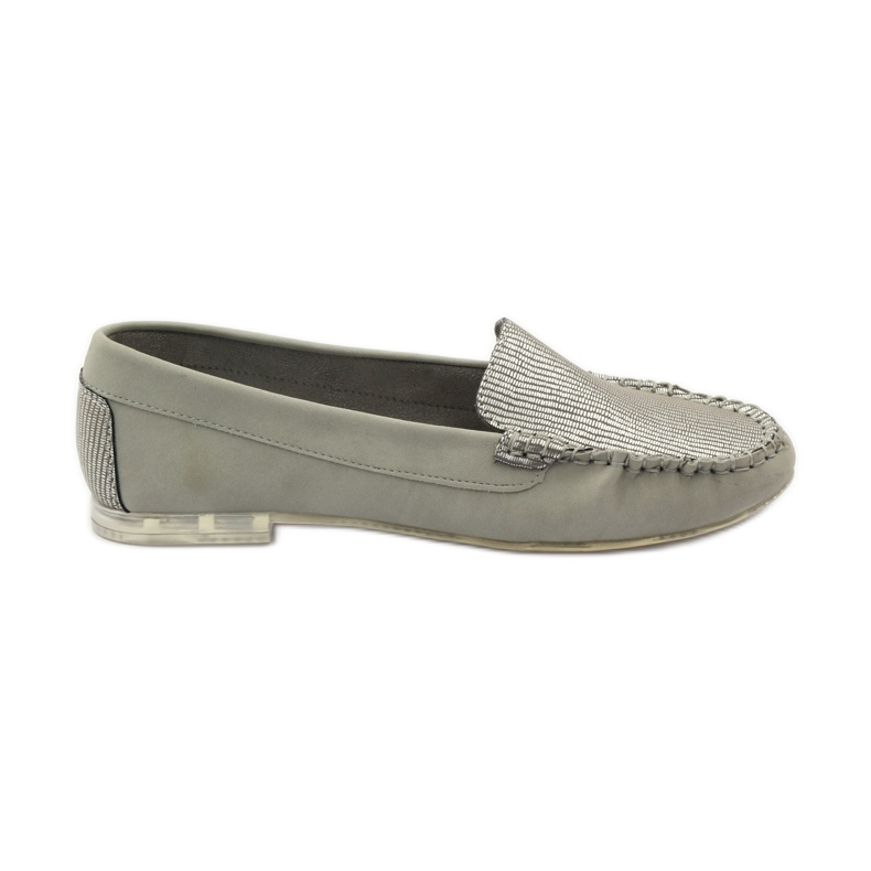 Shoes suede moccasins Sergio Leone 721 grey