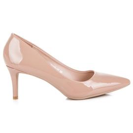 Milaya Lacquered heels brown