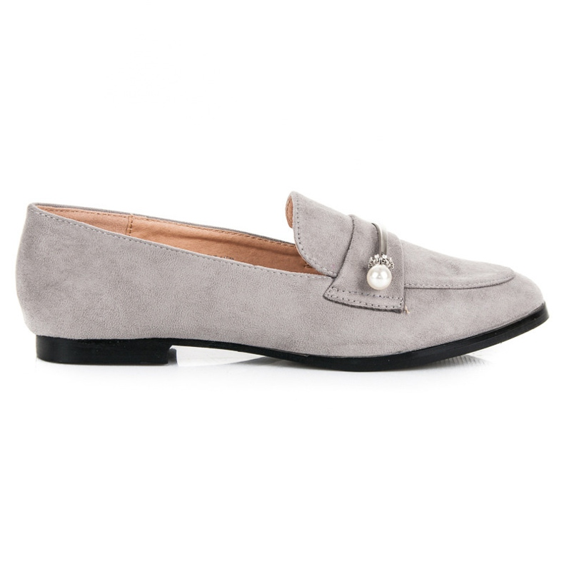 Seastar Loafers With Pearls grey