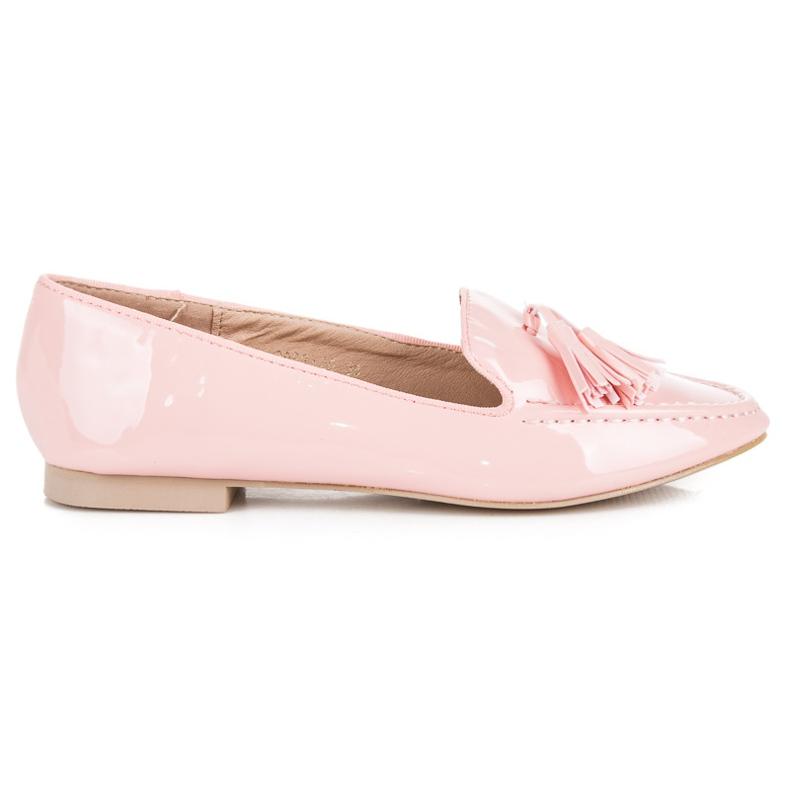 Varnished VICES moccasins pink