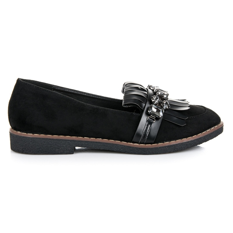 Bestelle Black Loafers With Decoration