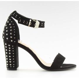 Black black high-heeled sandals