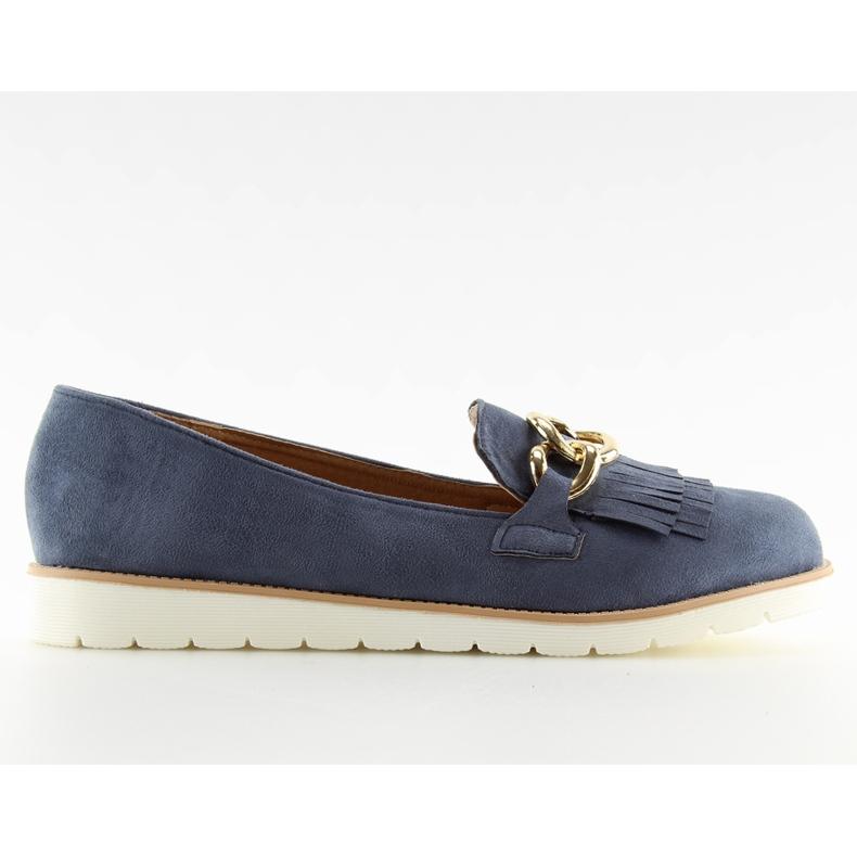 Women's loafers navy blue G237 blue