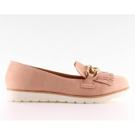 Women's loafers pink G237 pink