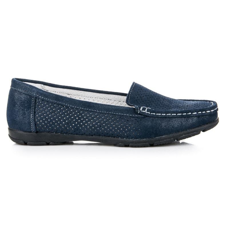 Vinceza openwork Loafers blue
