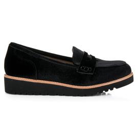 Kylie Velvet loafers for women black