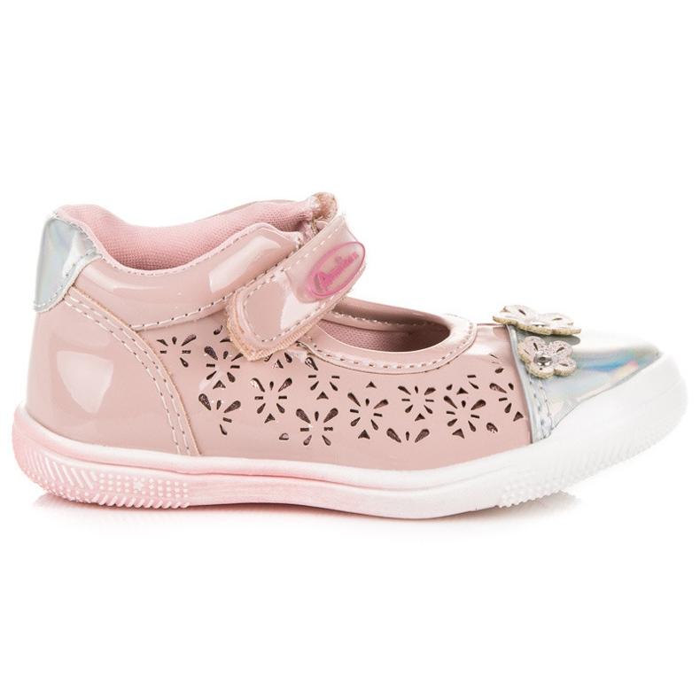 American Club Openwork American shoes pink