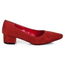Best Shoes Suede pumps with low heels red