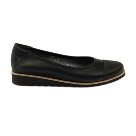 Angello 1325 leather moccasin shoes black