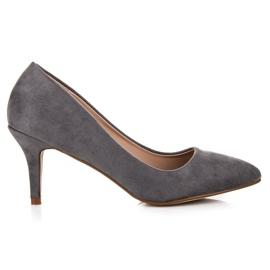 Suede High Heels grey
