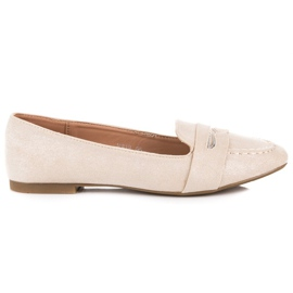 Small Swan Suede Loafers With Brocade brown