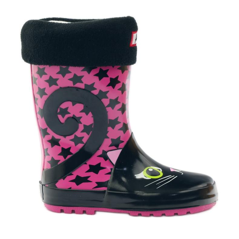 American Club Galoshes sock + insole American kitten pink black