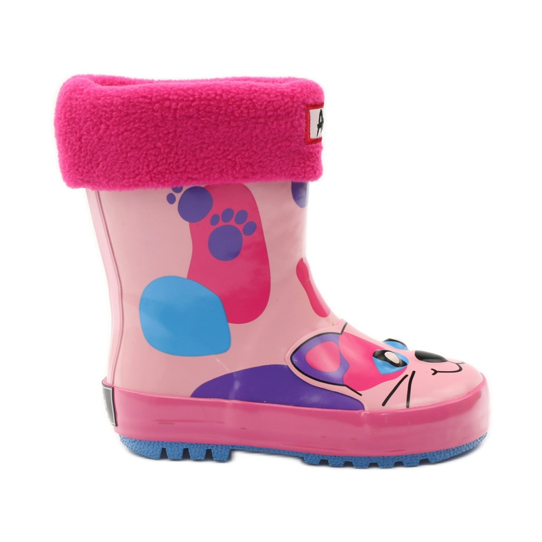 American Club Galoshes sock + American kitty pink