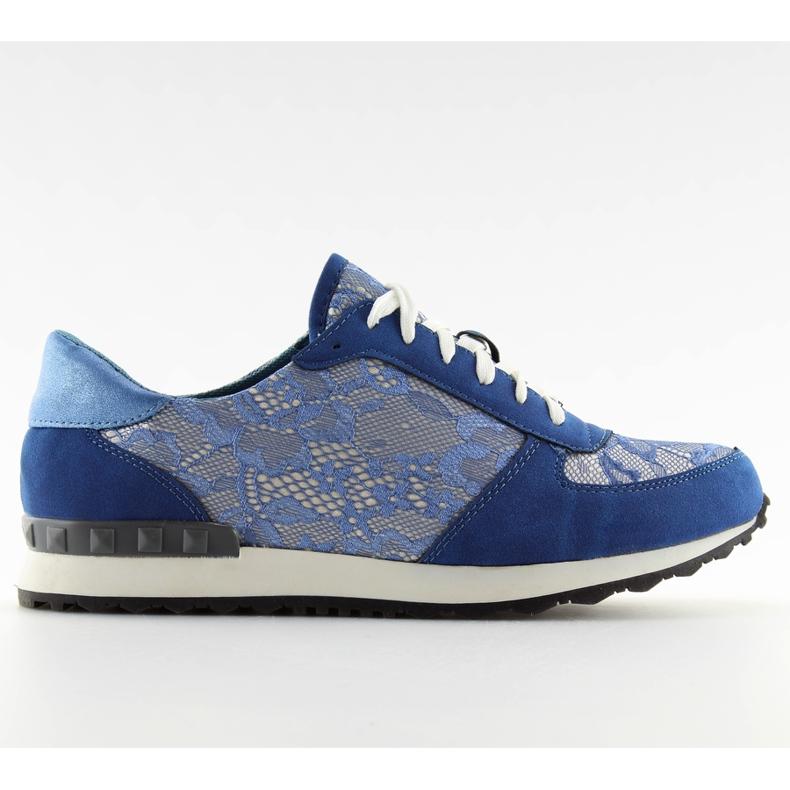 Sport shoes with lace Y620 D. Blue