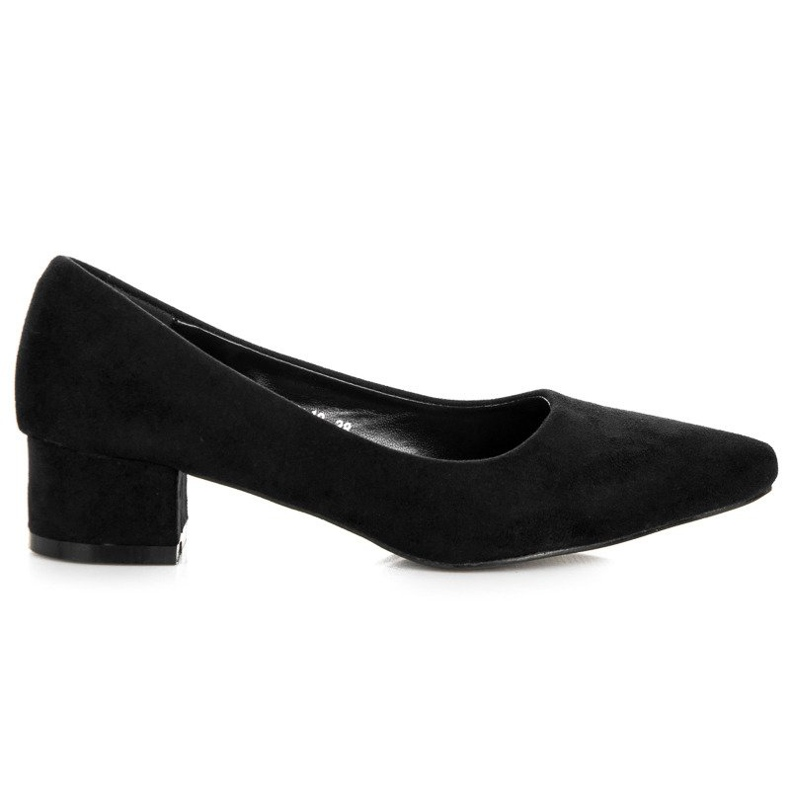 Best Shoes Suede pumps with low heels black