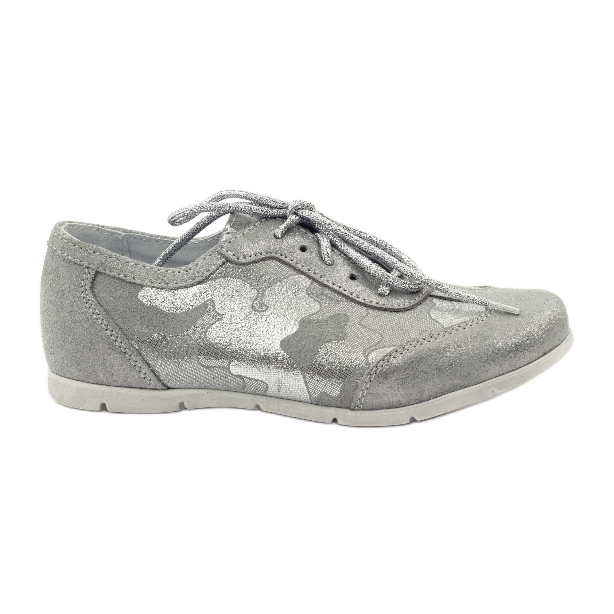 Athletic shoes bonded Ren But silver