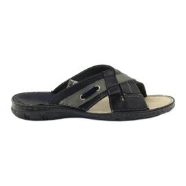 Naszbut Leather slippers 055 navy blue