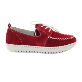 Red Creepersy leather shoes Filippo 020