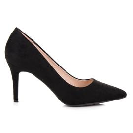 Milaya Suede black high heels